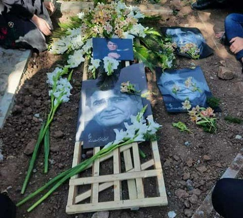 اولین تصویر از مزار استاد شجریان پس از خاکسپاری وی