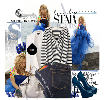 ست کردن لباس با شلوار جین برای پاییز 2020 به سبک شکیرا شیک پوش,ست کردن,ست کردن لباس,ست کردن لباس پاییزی,ست کردن لباس به سبک شکیرا,ست کردن لباس پاییزی به سبک شکیرا