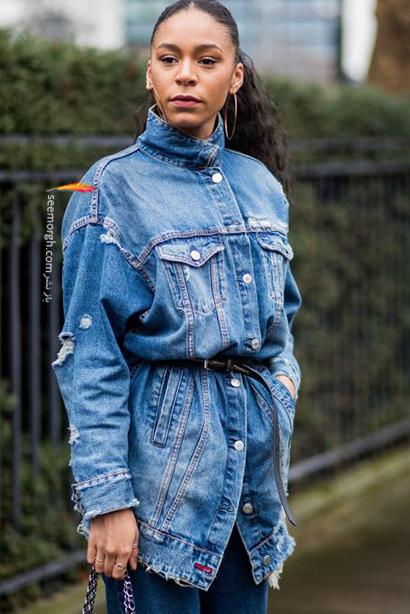 کت جین با کمربند,راهنمای ست کردن کت جین برای پاییز 2020