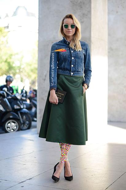 ست کردن کت جین کوتاه با دامن میدی,راهنمای ست کردن کت جین برای پاییز 2020
