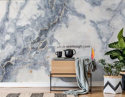 کاغذ دیواری طرح سنگ گرانیت,کاغذ دیواری طرح سنگ، جدیدترین مدل کاغذ دیواری در دکوراسیون