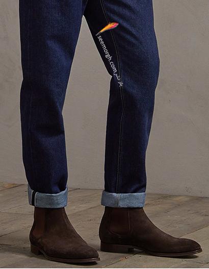 شلوار را داخل نیم بوت تان نگذارید,5 اصل شیک پوشی شلوار جین با نیم بوت,ست کردن شلوار جین با نیم بوت,ست کردن شلوار جین با نیم بوت