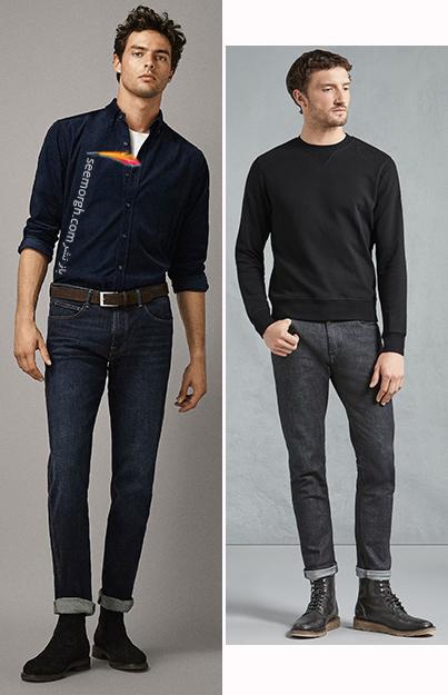 ست کردن پیراهن مخمل ساده با شلوار جین و نیم بوت,5 اصل شیک پوشی شلوار جین با نیم بوت,ست کردن شلوار جین با نیم بوت,ست کردن شلوار جین با نیم بوت