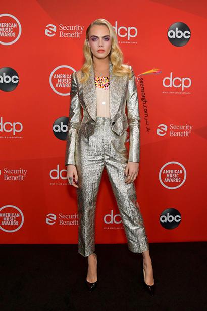 بهترین مدل لباس در American music awards 2020 -  کارا دلوین Cara Delevingne,مدل لباس,مدل لباس در American Music Awards