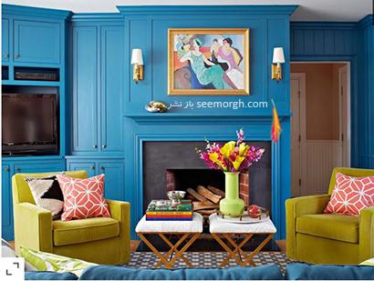 ست کردن آبی نیلی با رنگ سبز,در دکوراسیون داخلی چه رنگ هایی را می توانیم با رنگ آبی ست کنیم؟,9 ترکیب زرق و برق دار با رنگ آبی برای دکوراسیون داخلی