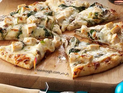 طرز تهیه پیتزا چیکن آلفردو,پیتزا چیکن آلفردو