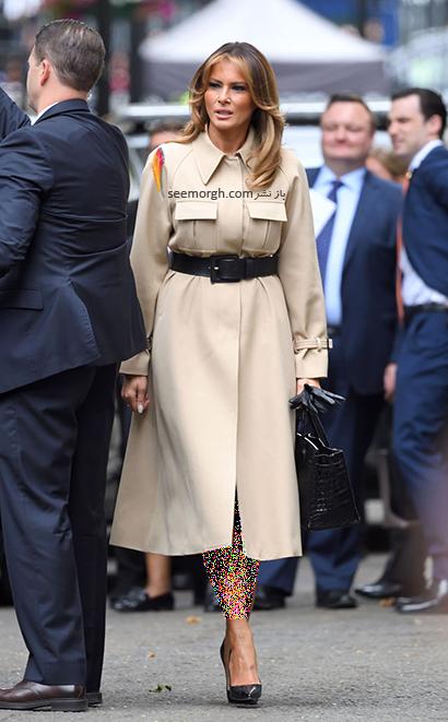 پالتو پاییزی اسپرت به سبک ملانیا ترامپ Melania Trump,بهترین پالتو های پاییزی ملانیا ترامپ Melania Trump,پالتو,پالتو پاییزی,مدل پالتو