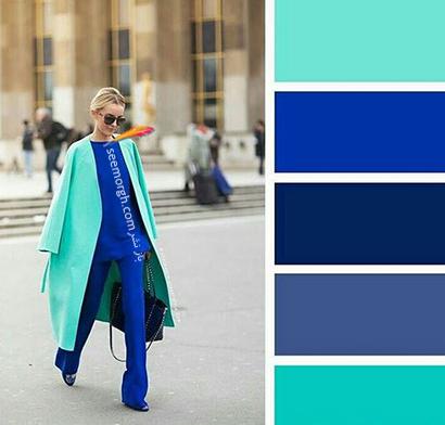 ست کردن رنگ آبی برای پاییز 2020 - مدل شماره 4,ست کردن لباس,ست کردن لباس رنگی برای پاییز