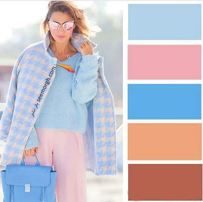 ست کردن رنگ آبی برای پاییز 2020 - مدل شماره 10,ست کردن لباس,ست کردن لباس برای پاییز,ست کردن لباس رنگی برای پاییز