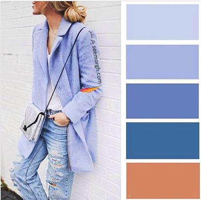 ست کردن رنگ آبی برای پاییز 2020 - مدل شماره 9,ست کردن لباس,ست کردن لباس برای پاییز,ست کردن لباس رنگی برای پاییز