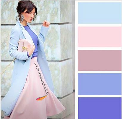 ست کردن رنگ آبی برای پاییز 2020 - مدل شماره 8,ست کردن لباس,ست کردن لباس برای پاییز,ست کردن لباس رنگی برای پاییز