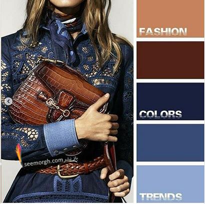 ست کردن رنگ آبی برای پاییز 2020 - مدل شماره 7,ست کردن لباس,ست کردن لباس برای پاییز,ست کردن لباس رنگی برای پاییز