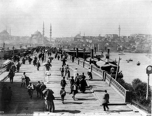عکس قدیمی از پل Galata ترکیه