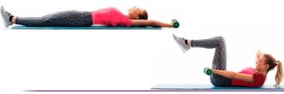 آب کردن چربی پهلو با حرکت Weighted pike,آب کردن چربی پهلو با 10 دقیقه ورزش,10 دقیقه ورزش برای آب کردن پهلو