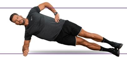 آب کردن چربی پهلو با ساید پلانک Side Plank,آب کردن چربی پهلو با 10 دقیقه ورزش,10 دقیقه ورزش برای آب کردن پهلو