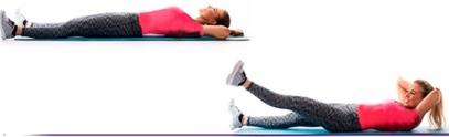 آب کردن چربی پهلو با حرکت Inner thigh crunch lift,آب کردن چربی پهلو با 10 دقیقه ورزش,10 دقیقه ورزش برای آب کردن پهلو