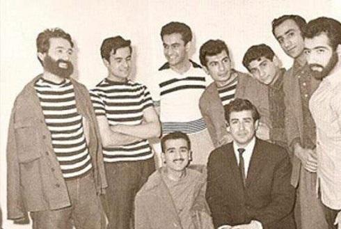 عکس قدیمی بازیگران در کنار پرویز پورحسینی