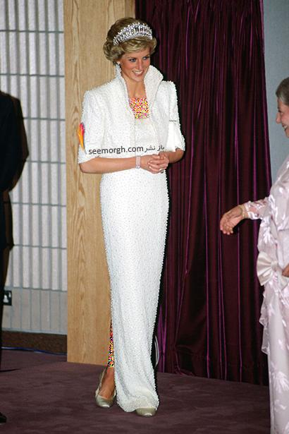 مدل لباس پرنسس دایانا Diana سال 1989,10 مدل لباس شگفت انگیز پرنسس دایانا Diana در دنیای مد,پرنسس دایانا,مدل لباس پرنسس دایانا