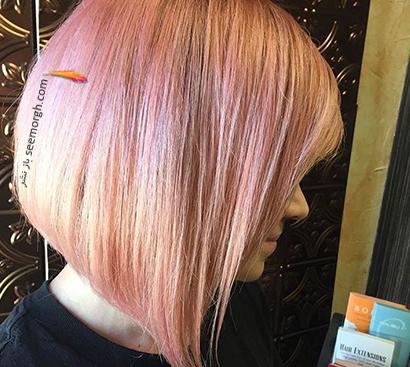 رنگ مو رزگلد روشن با تم صورتی,رنگ مو رزگلد، پرطرفداترین رنگ مو برای پاییز 2020