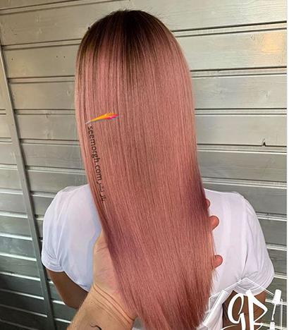 رنگ مو رزگلد با تم صورتی,رنگ مو رزگلد، پرطرفداترین رنگ مو برای پاییز 2020