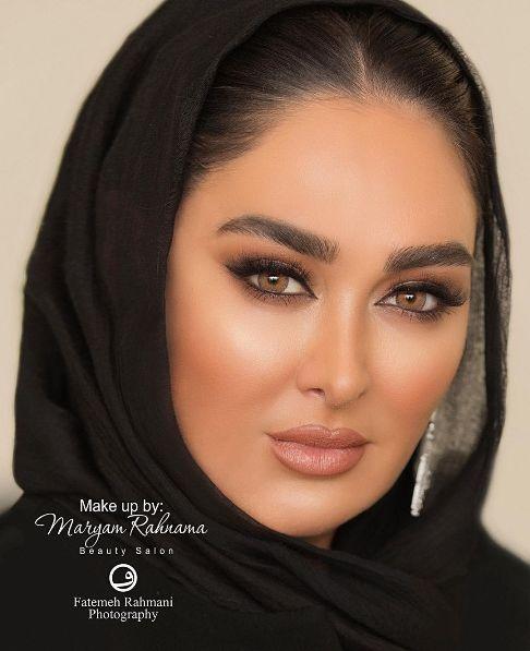 عکس الهام حمیدی به عنوان مدل آرایشی