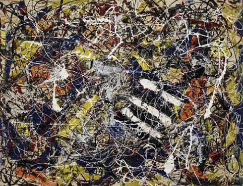 تابلو نقاشی «شماره ۱۷A» اثر «جکسون پولاک» ۱۹۴۸