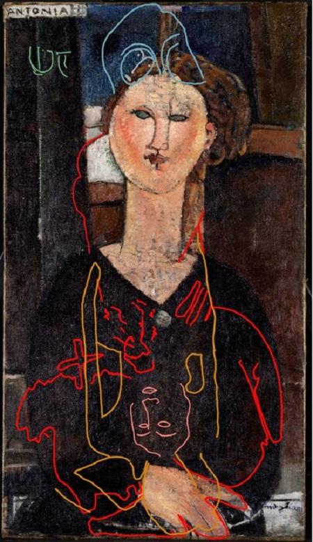 نقاشی پنهان شده زیر نقاشی معروف مودیلیانی