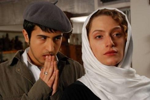 مهرداد صدیقیان و نگین معتضدی در فیلم سپید و سیاه