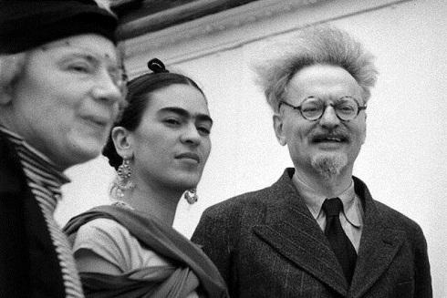 فریدا به همراه لیون تروتسکی