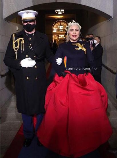 مدل لباس لیدی گاگا در مراسم تحلیف جو بایدن Joe Beiden,مدل لباس جنیفر لوپز و لیدی گاگا در مراسم تحلیف جو بایدن,مدل لباس,مدل لباس لیدی گاگا,مدل لبا جنیفر لوپز