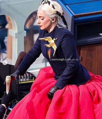 استایل لیدی گاگا در مراسم تحلیف جو بایدن Joe Beiden,مدل لباس جنیفر لوپز و لیدی گاگا در مراسم تحلیف جو بایدن,مدل لباس,مدل لباس لیدی گاگا,مدل لبا جنیفر لوپز