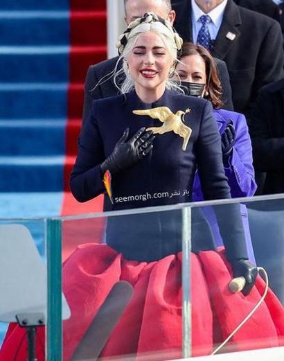 لباس لیدی گاگا در مراسم تحلیف جو بایدن Joe Beiden,مدل لباس جنیفر لوپز و لیدی گاگا در مراسم تحلیف جو بایدن,مدل لباس,مدل لباس لیدی گاگا,مدل لبا جنیفر لوپز