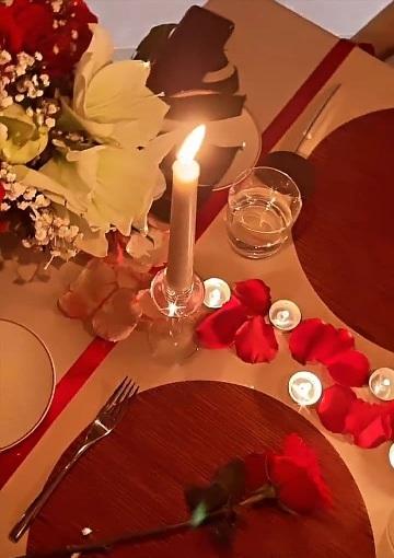 شام عاشقانه رونالدو و جورجینا