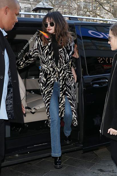 ست کردن لباس زمستانی سلنا گومز Selena Gomez برای 2021,سلنا گومز,استایل زمستانی سلنا گومز,ست کردن لباس زمستانی سلنا گومز