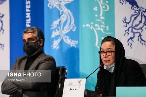 آزیتا حاجیان و پژمان جمشیدی در جشنواره فجر