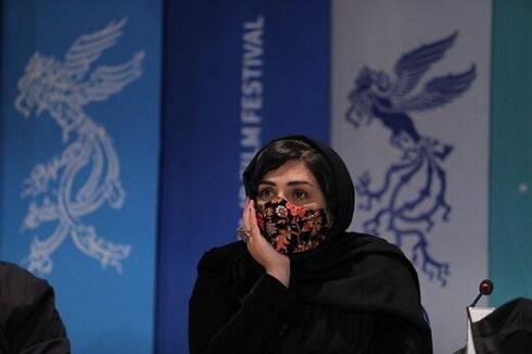 باران کوثری در نشست خبری فیلم گیج گاه در جشنواره فجر