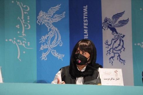 حضور الناز شاکردوست در نشست خبر جشنواره فجر