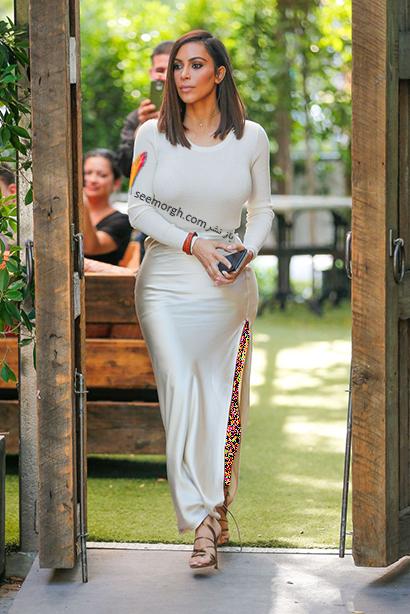 مدل لباس شب برای کسانی که اندام گلابی دارند به سبک کیم کارداشیان Kim Kardashian