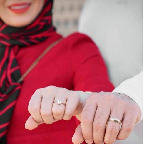 حلقه ازدواج مبینا نصیری و مهدی توتونچی