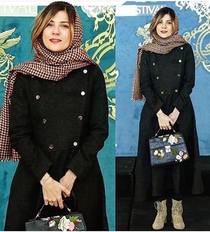 مدل پالتو سارا بهرامی در اولین روز جشنواره فجر 39,مدل پالتو,مدل پالتو بازیگران زن ایرانی,مدل پالتو در جشنواره فجر