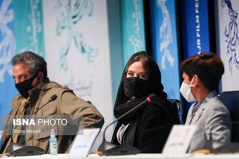 ستاره پسیانی در نشست خبری فیلم یدو در جشنواره فجر