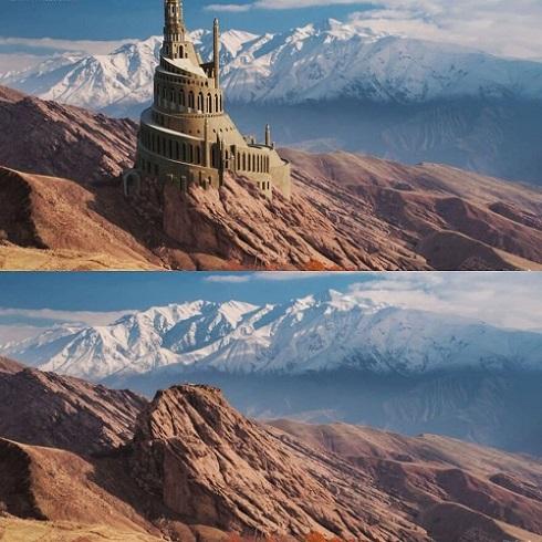 تصویر بازسازی شده از دژ تاریخی «الموت»