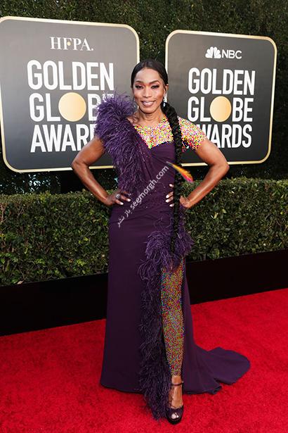 بهترین مدل لباس در گلدن گلوب Golden Globes 2020 - آنجلا باست Angela Bassett,مدل لباس,مدل لباس در گلدن گلوب,بهترین مدل لباس,بهترین مدل لباس در گلدن گلوب 2021