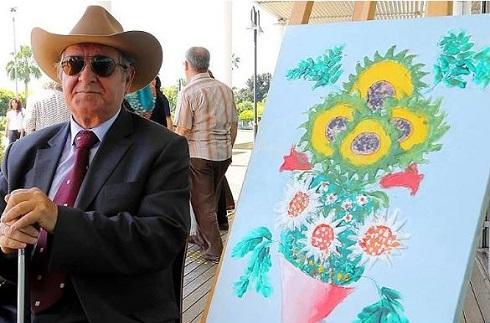 اشرف ارمغان نقاش نابینای ترکیه ای
