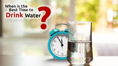 بهترین زمان نوشیدن آب چه موقع است؟,چه زمان هایی باید آب بنوشیم؟
