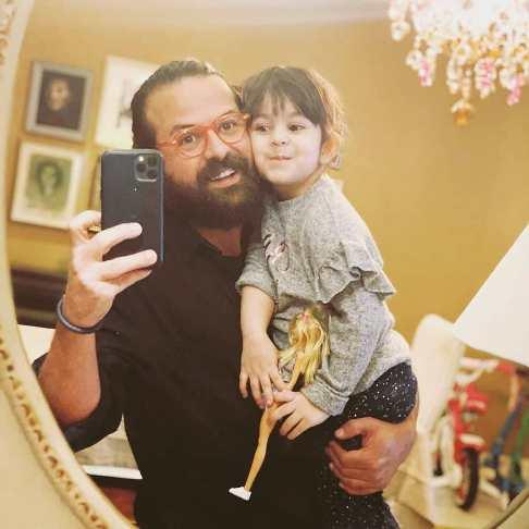هومن سیدی و دخترش نیل