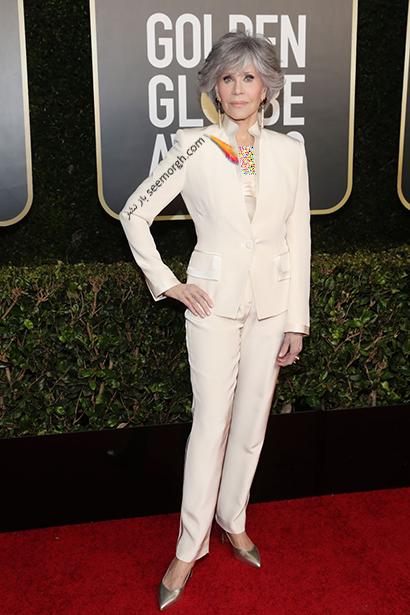بهترین مدل لباس در گلدن گلوب Golden Globes 2020 - جین فوندا Jane Fonda,مدل لباس,مدل لباس در گلدن گلوب,بهترین مدل لباس,بهترین مدل لباس در گلدن گلوب 2021