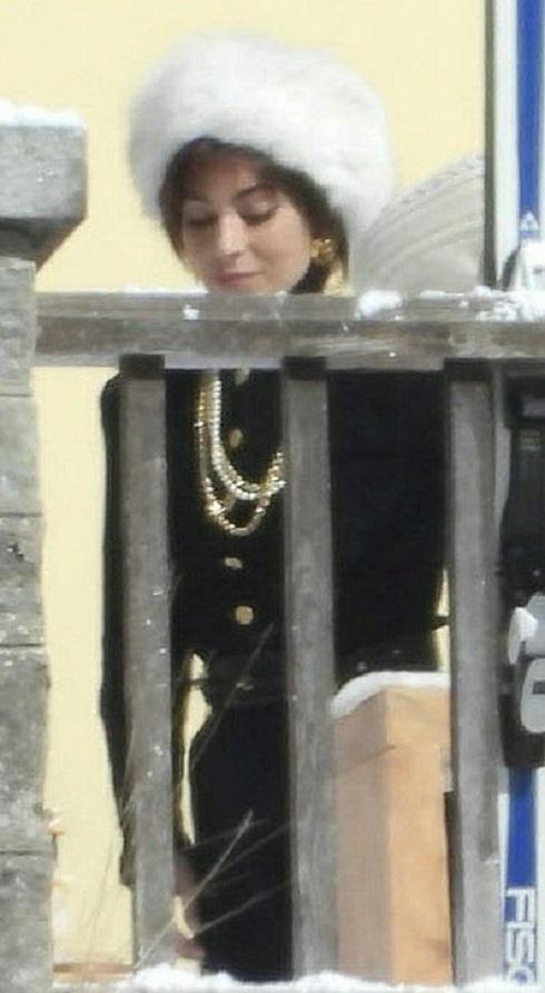 لیدی گاگا در پشت صحنه فیلم خاندان گوچی