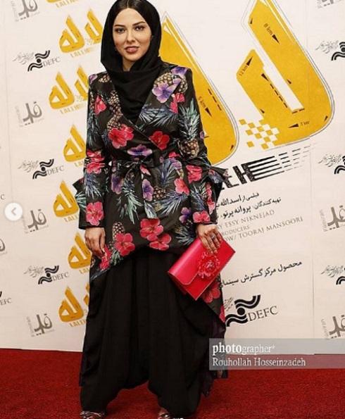 لیلا اوتادی در مراسم اکران فیلم لاله