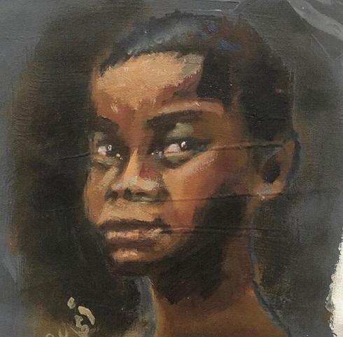 نقاشی امجاد مطیری هنرمند نابینا